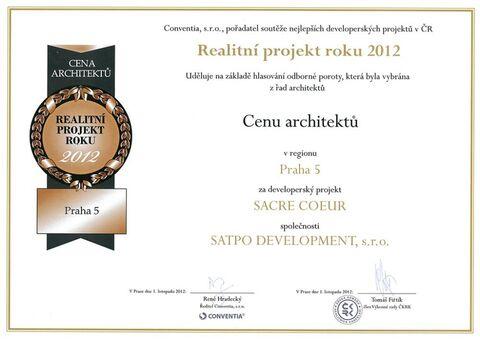 Rezidence SACRE COEUR - REALITNÍ PROJEKT ROKU 2012