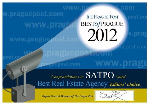 "Ocenění ""BEST REAL ESTATE AGENCY"" pro SATPO"