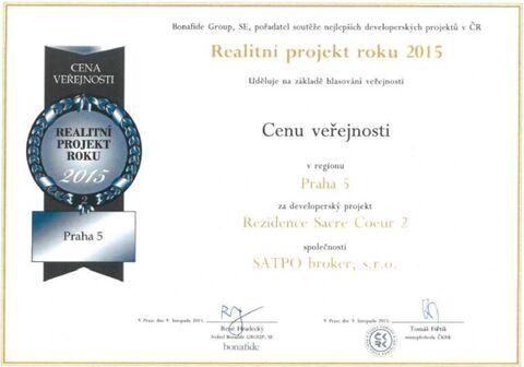 Премия в номинации Риэлторский проект года 2015